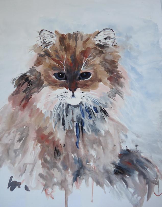 натали котова, рисование, портрет, акрил, арт-тренинг