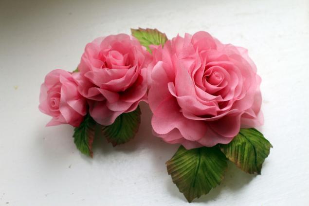 мк, цветы из ткани