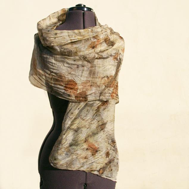 шарф шелковый