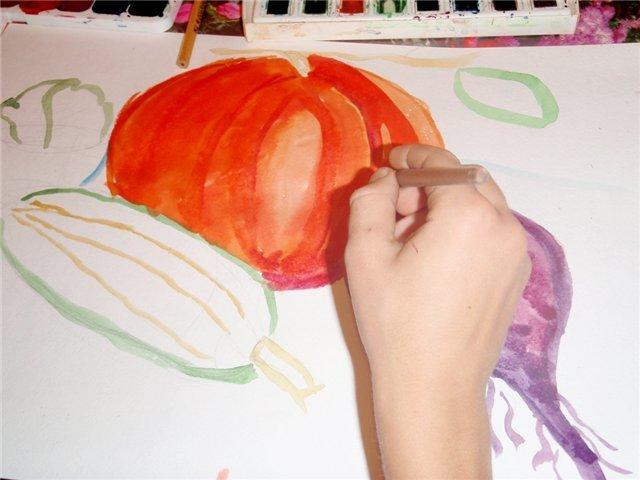Рисуем с детьми «Осенний натюрморт», фото № 2