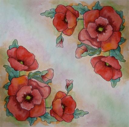 мастер-класс батик, роспись по шелку, платок батик