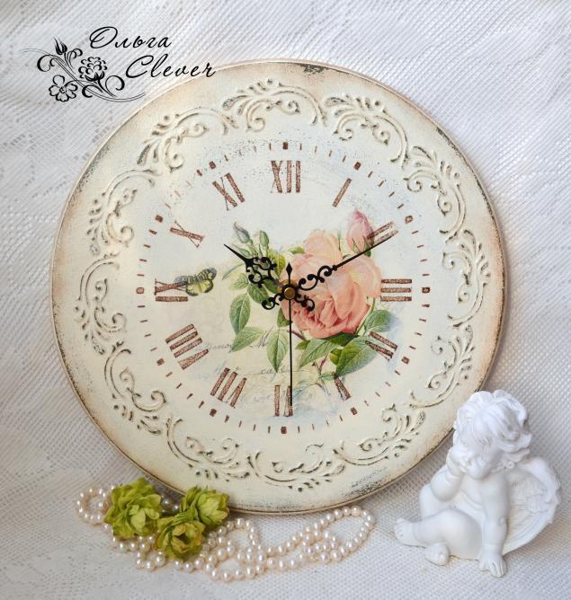 Часы шебби шик мастер класс