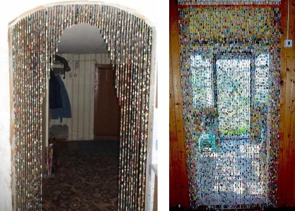 Из чего сделать шторы на дверь своими