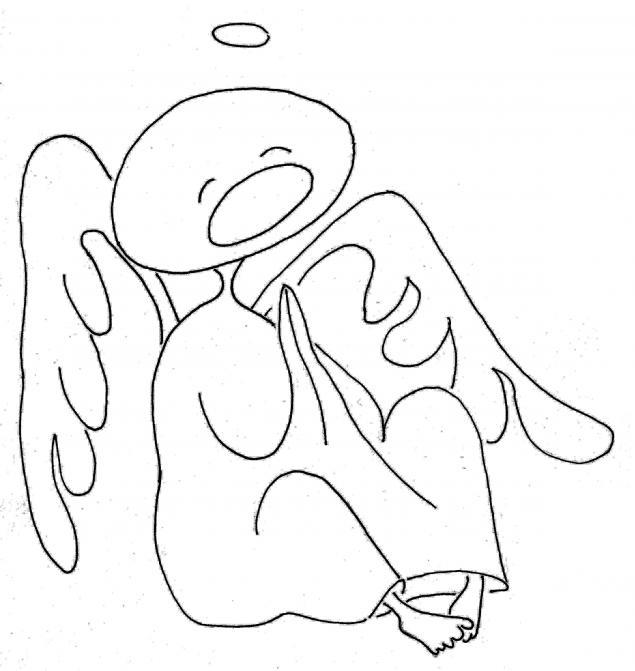 ангел, надежда, рисунок, смешной рисунок, картинка