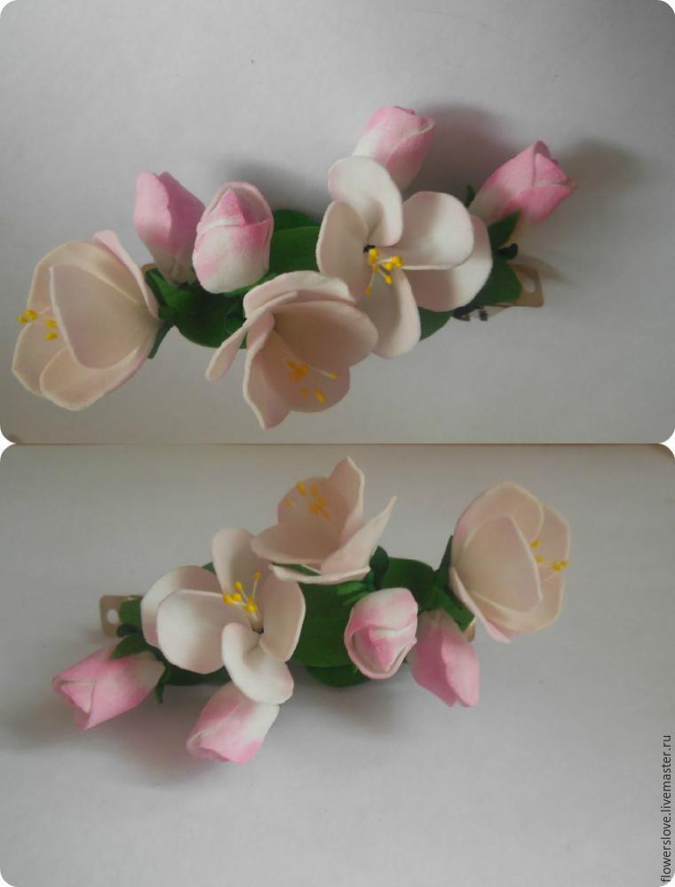 Цветы яблони из фоамирана своими руками с пошаговым фото для начинающих 91