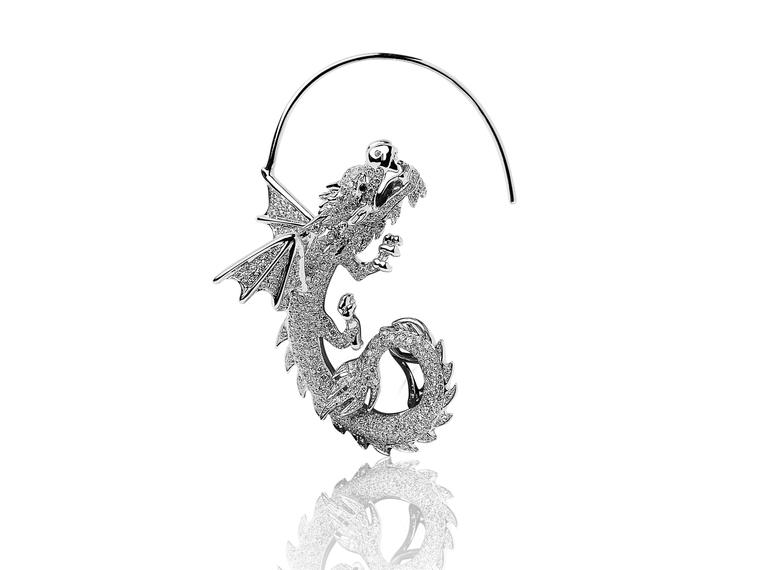 китайский дракон, брошь
