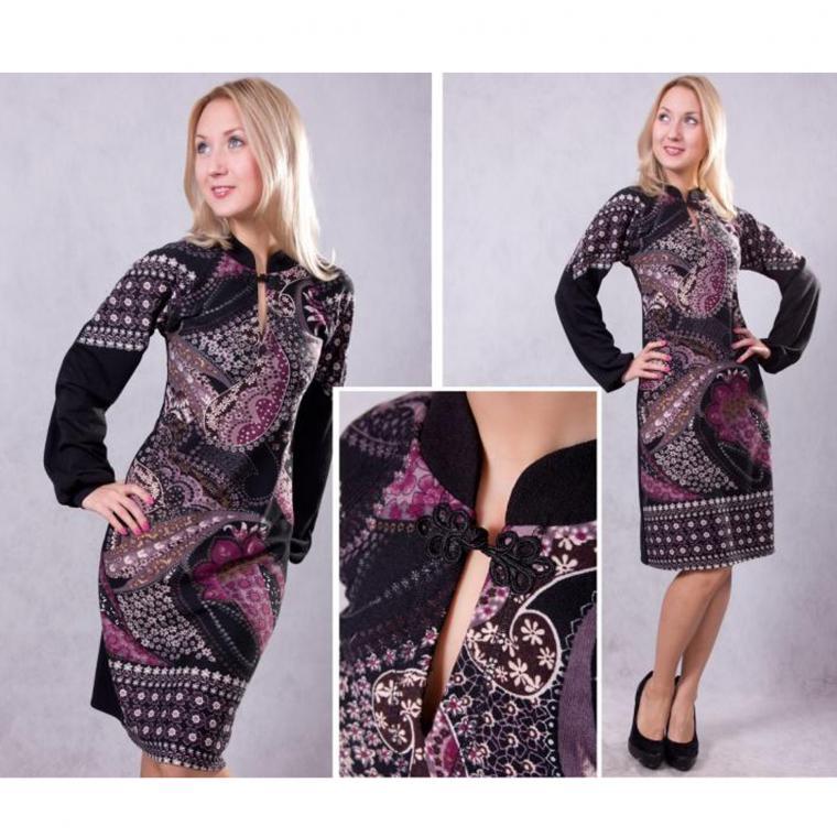 Трикотажные платья фото своими руками