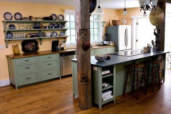 деревянный, интерьер