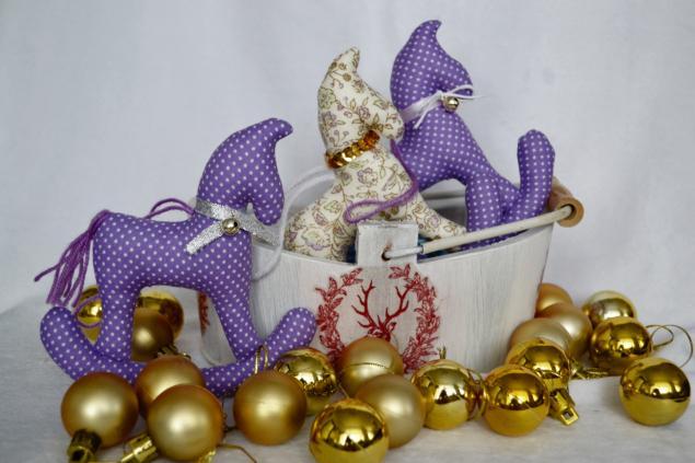 новогодние игрушки, текстильные куклы