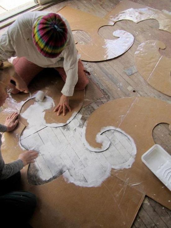 Колоритно и фактурно 20 креативных идей для декора стен и пола, фото № 35