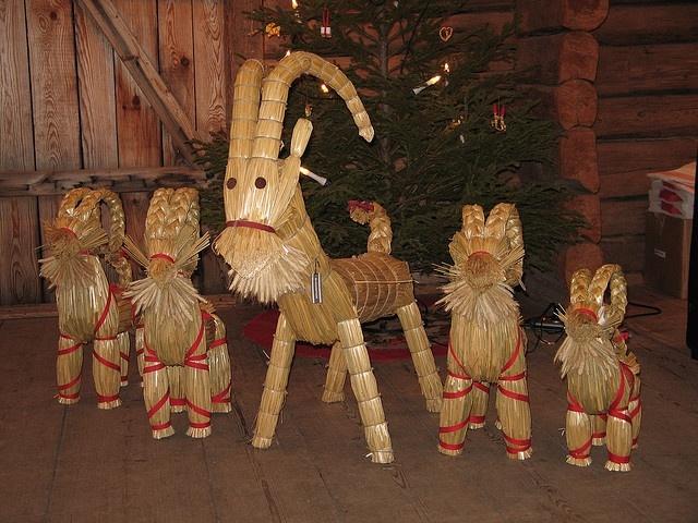 Yule Goats. Scandinavian and Northern European Yule & Christmas symbols. kn