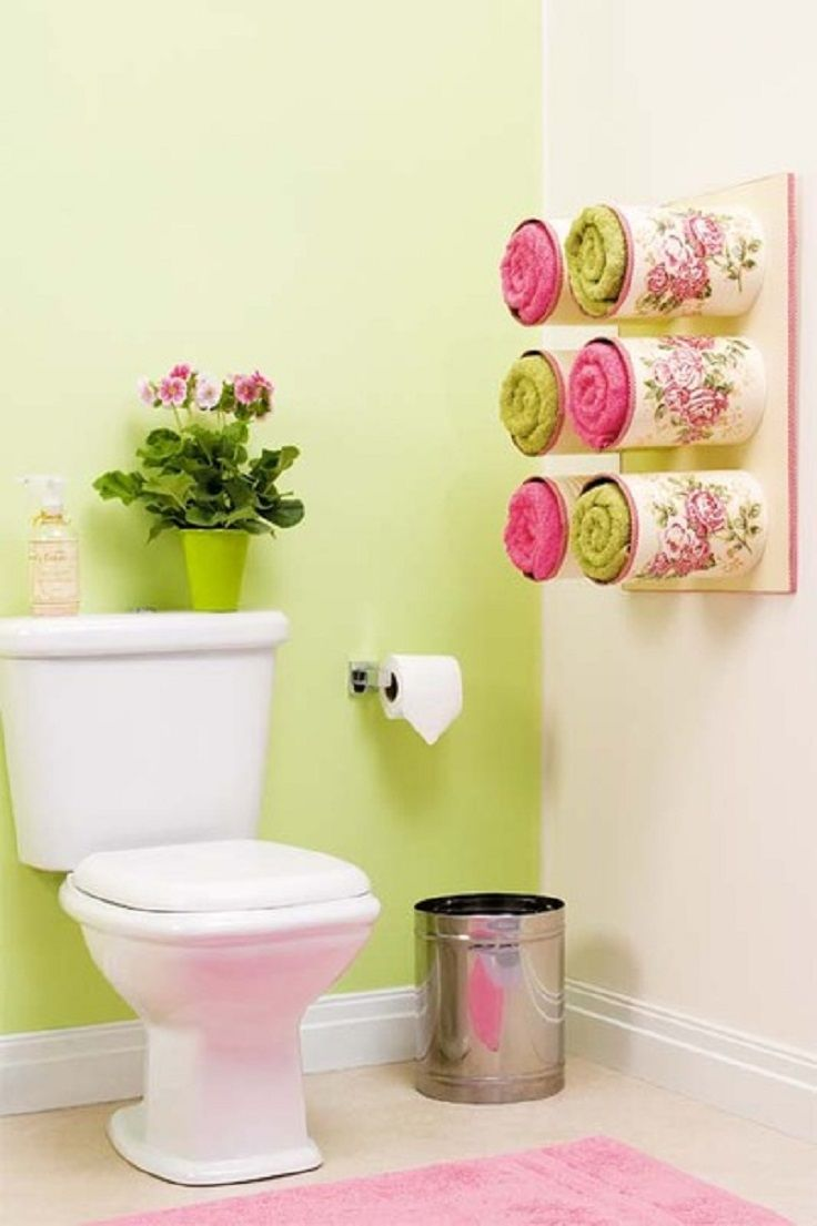 Декор цветов на туалет