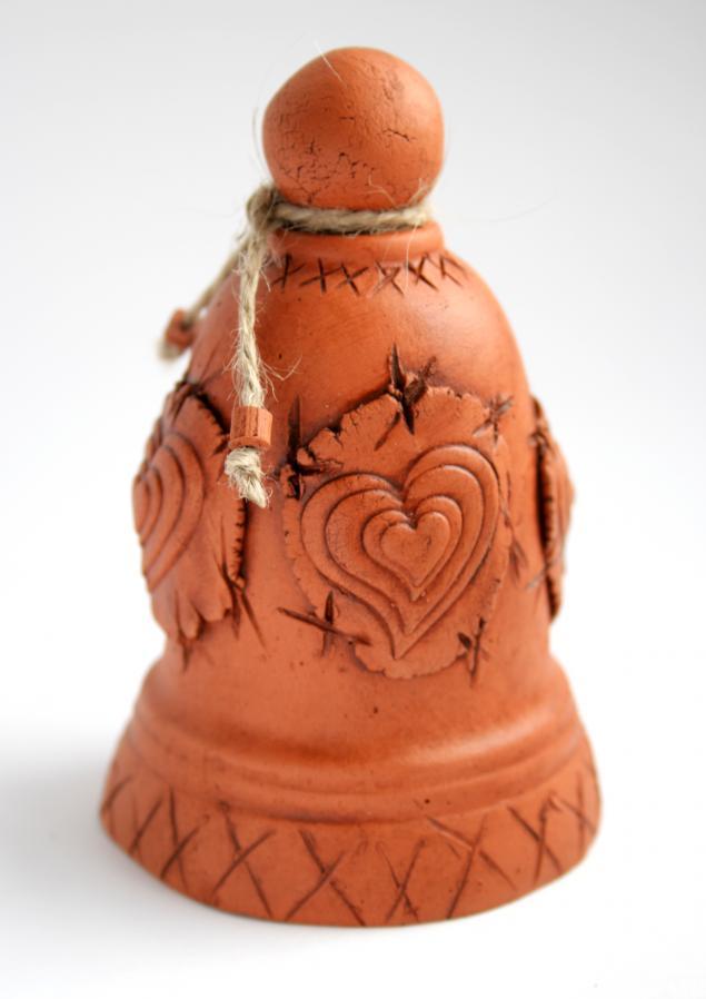 колокольчик, натуральная глина