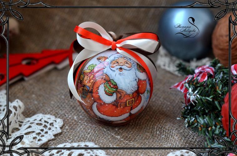 новогодний декор, подарок своими руками, обучение декупажу