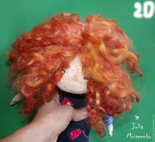 Как привалять кукле волосы мастер класс