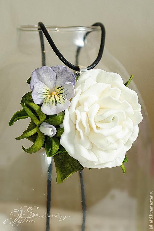 фоамиран, мастер-класс, цветы, анютины глазки