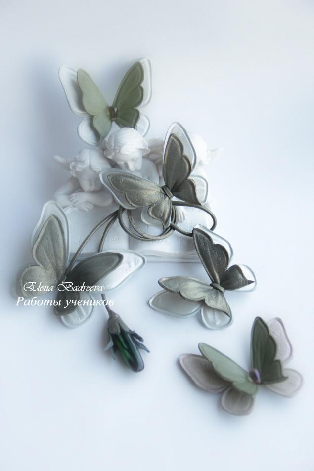 обучение цветоделию, кожаные цветы