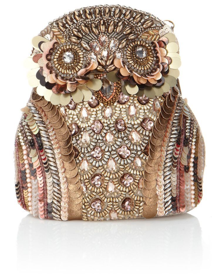 Ollie The Embellished Owl Bag   Metallic   Accessorize