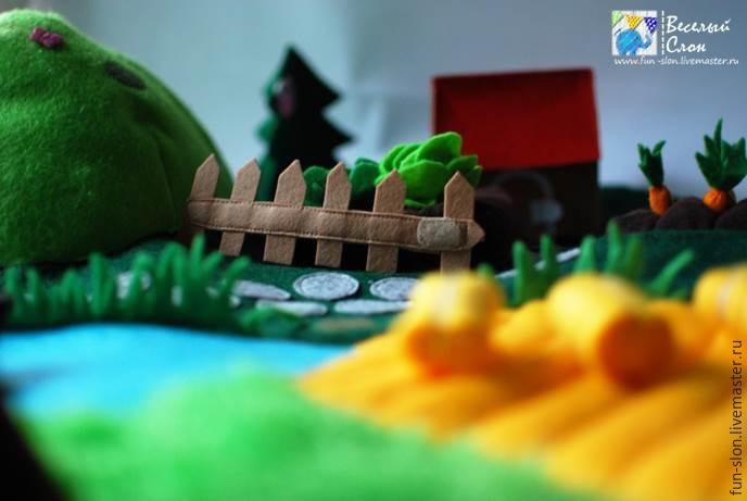 Шьем яркий и реалистичный игровой коврик из фетра, фото № 48