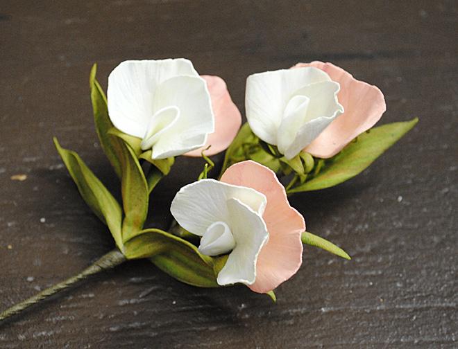мастер-класс по цветам, цветы из фоамирана, душистый горошек, вероника