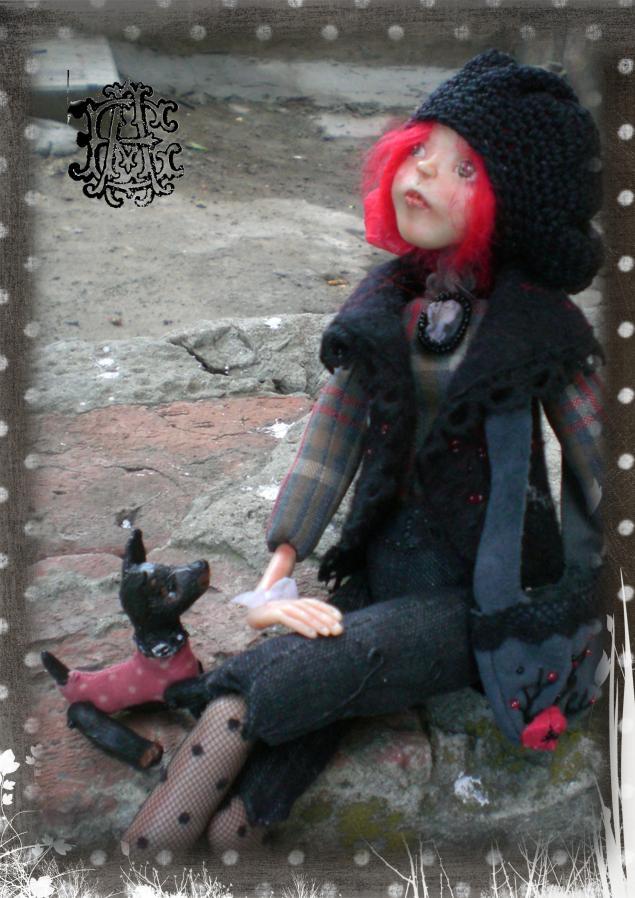 девочка, авторская кукла