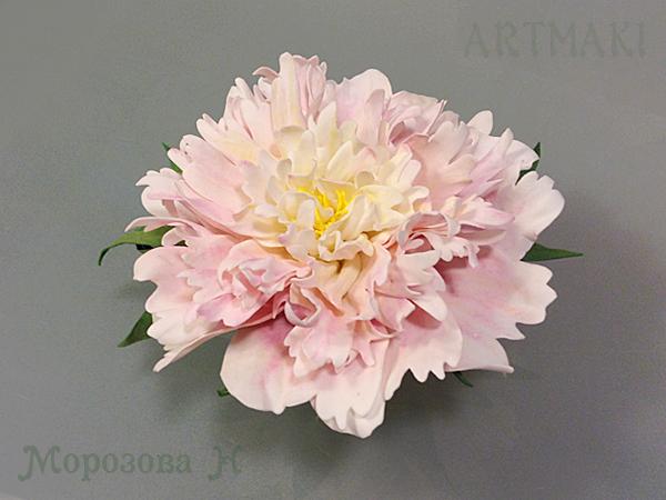 цветы из фоамирана, пион из фоамирана, цветоделие, мк, мастер-классы, обучение, курсы, курсы декупажа