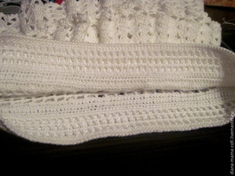 Как сделать пояс у вязаной юбки
