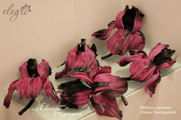 цветы из замши