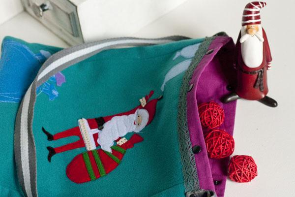 зимняя сумка, фетр, авторская иллюстрация