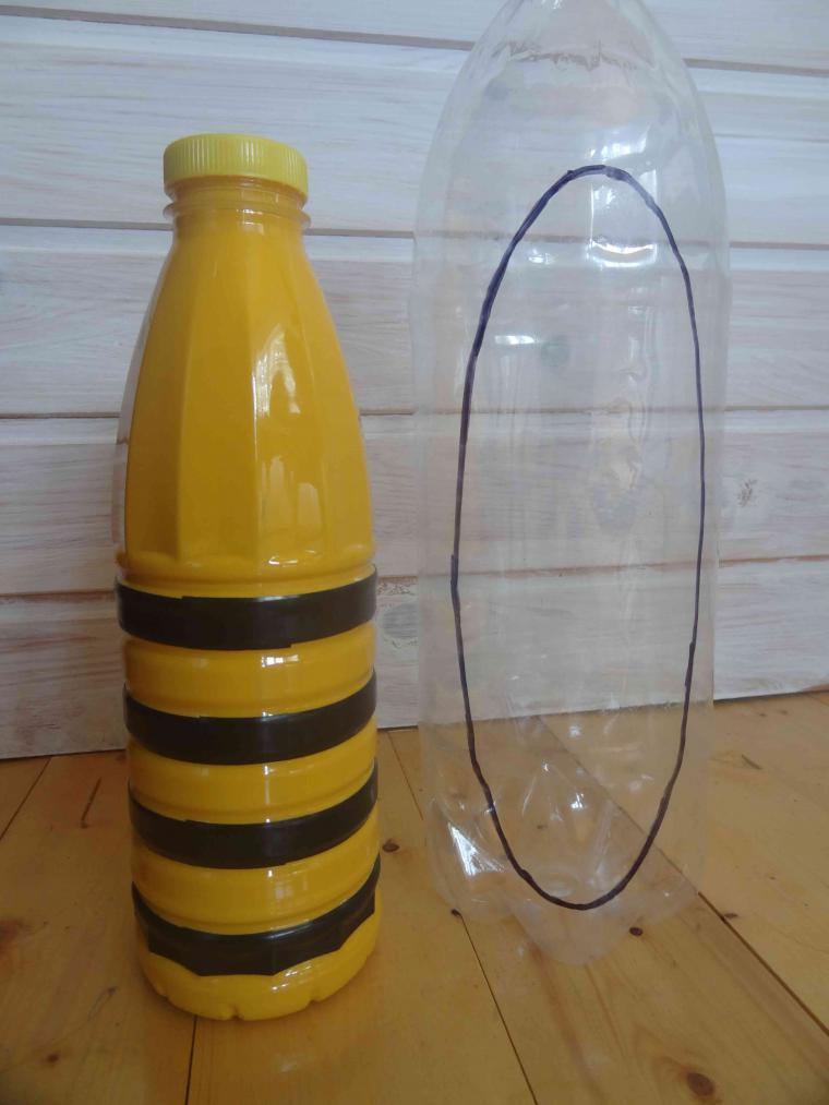 Как сделать пчел из бутылок своими руками