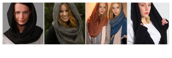 снуд на зиму, бесконечный шарф