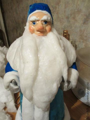 Как сделать деда мороза из ваты фото