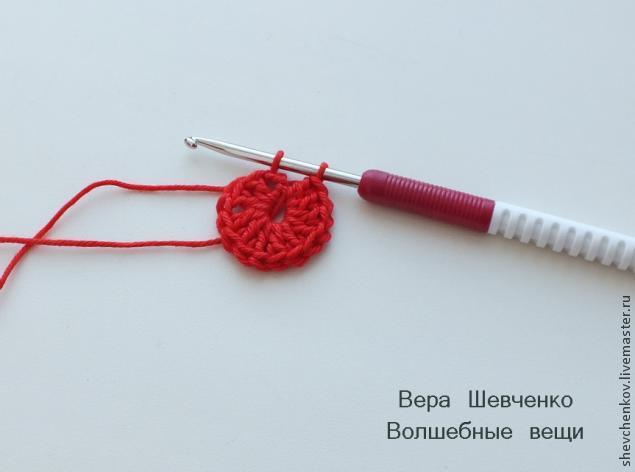 МК Вяжем сердечко - брелок (много фото), фото № 6