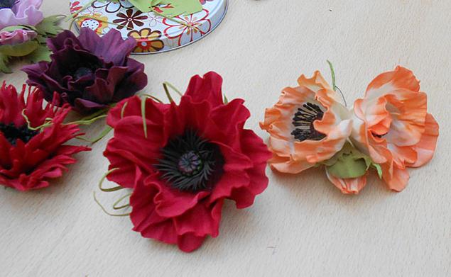 цветы из фоамирана, мк в москве