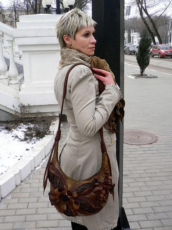 сумка войлочная