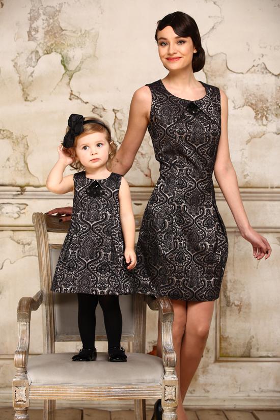Платья мама и дочка осень