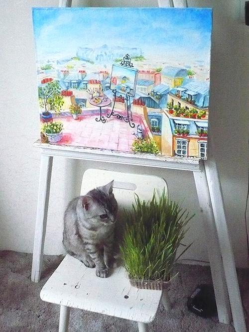 уютные картины маслом, картины для интерьера, городской пейзаж