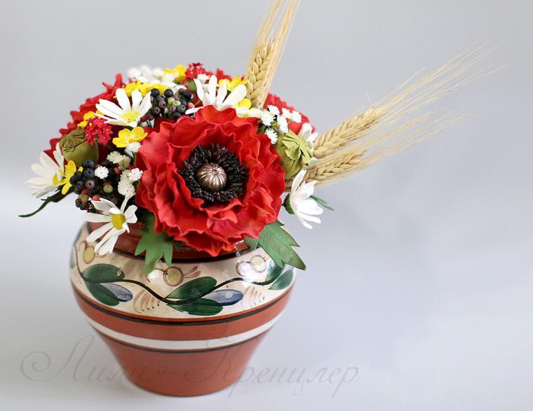 мак, флористика, цветы из фоамирана, мастер-класс