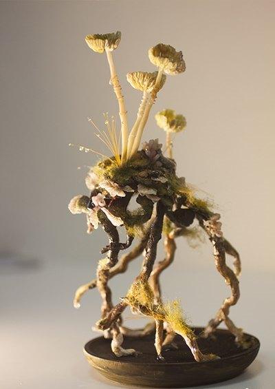 лепка грибов
