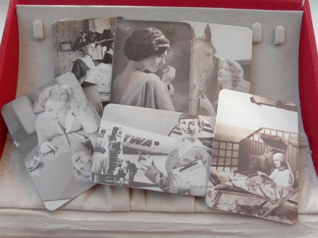 винтажные карточки, дамы, подарок, сша, к новому году