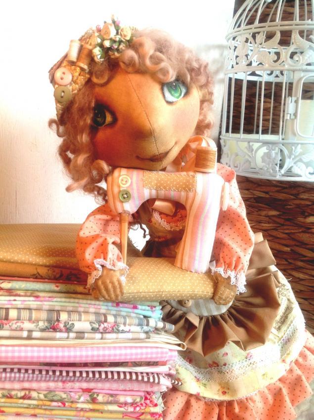 шебби шик, винтажные нитки, обувь для кукол
