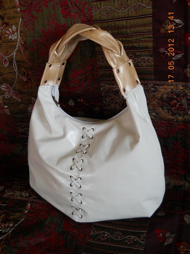 сумка ручной работы, обучение, изделия из кожи, полякова надежда, сумка-мешок, пошив сумки