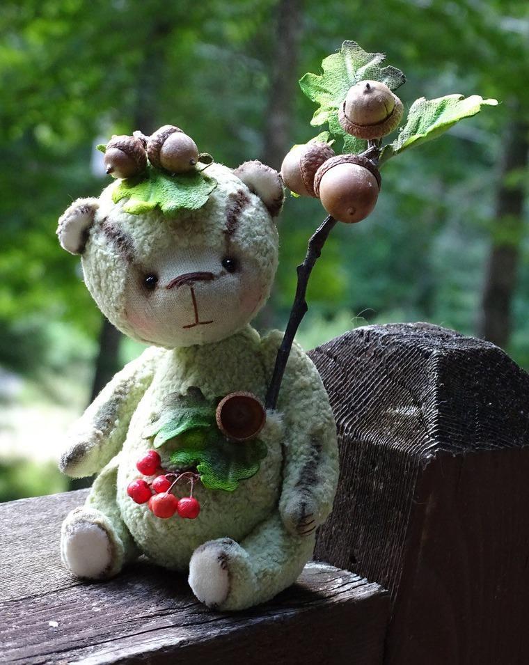 мишка ручной работы, лесной