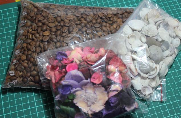 отдам даром, ракушки, кофе, материалы
