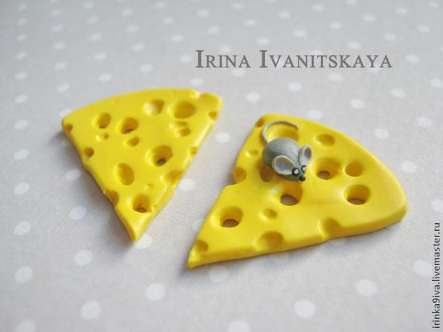 DIY Cheese Earrings of Polymer Clay, фото № 12