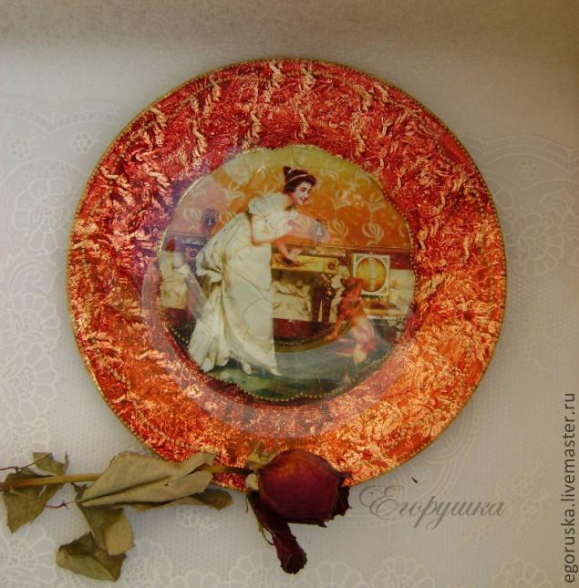 Декупаж тарелок мастер класс своими руками