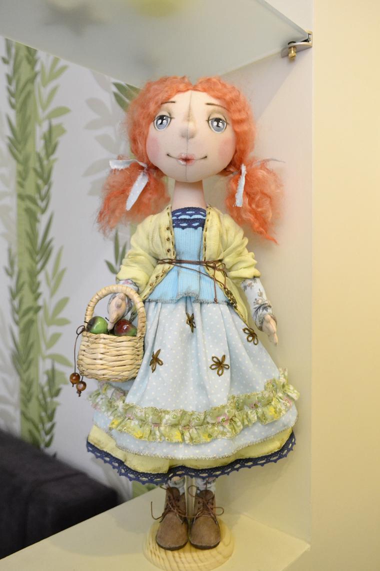 авторская кукла, акция, акция к 8 марта, ручная работа, подарок на 8 марта, подарок девушке, текстильная кукла, кукла ручной работы, кукла интерьерная