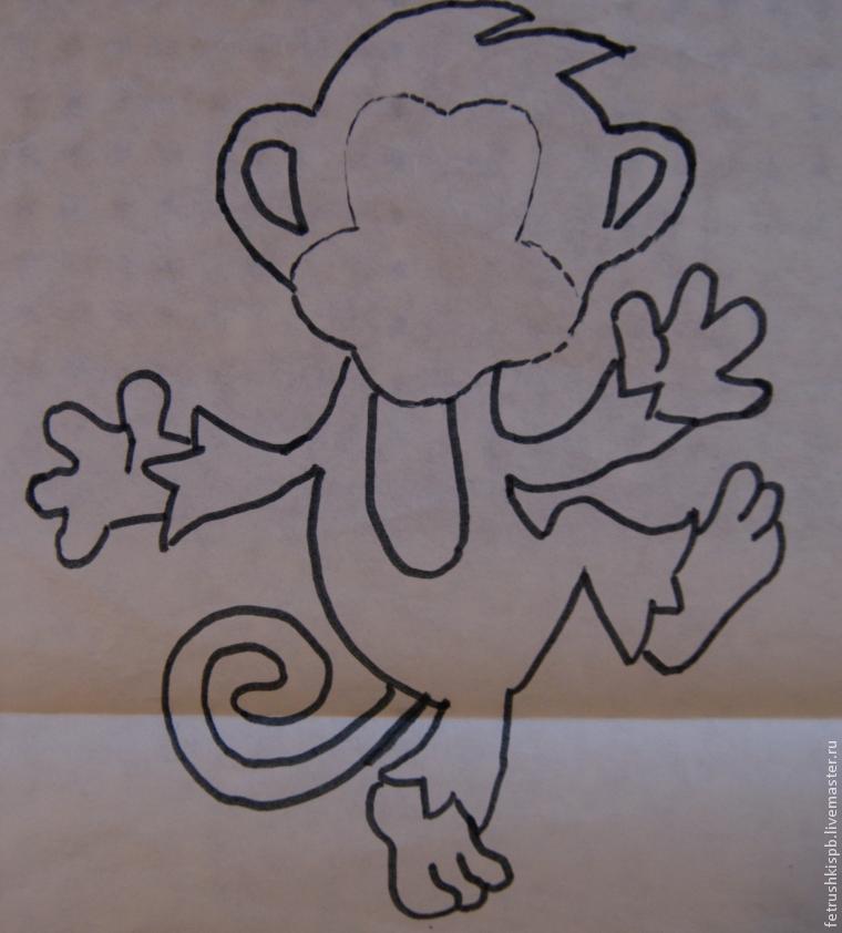 Как сшить обезьянку из фетра своими руками