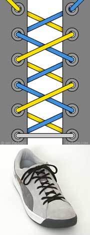 Оригинальные способы шнуровки ботинок. Виды и способы шнуровки., фото № 2