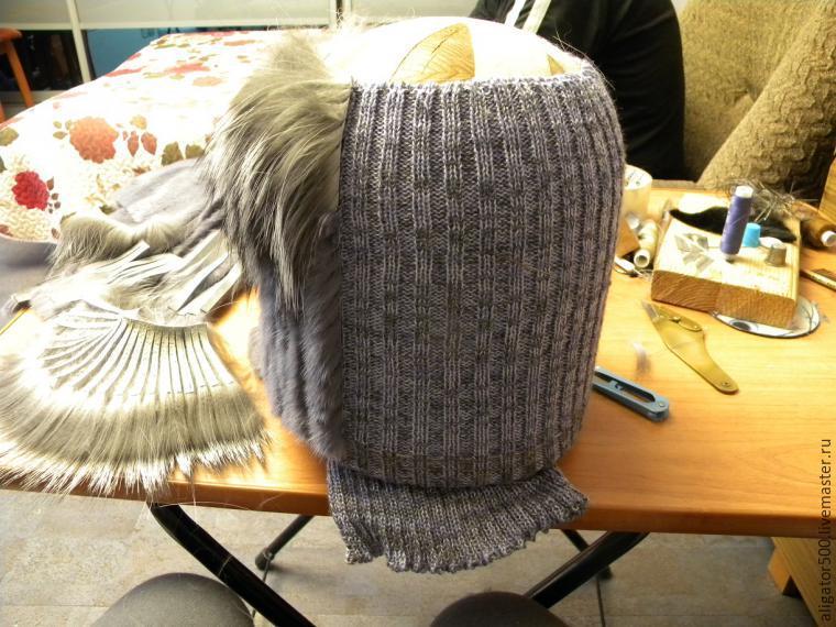 Связать шапку из меха своими руками фото 157